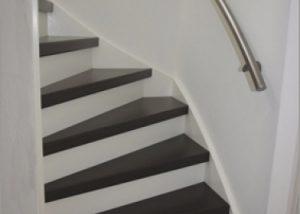 Wat een verschil met onze oude trap