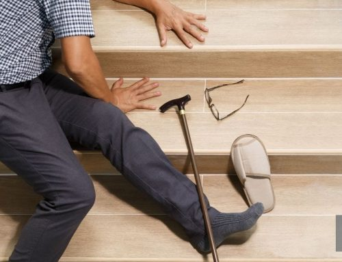 Een gladde trap veiliger maken