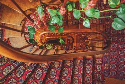 planten verwerken in de trap
