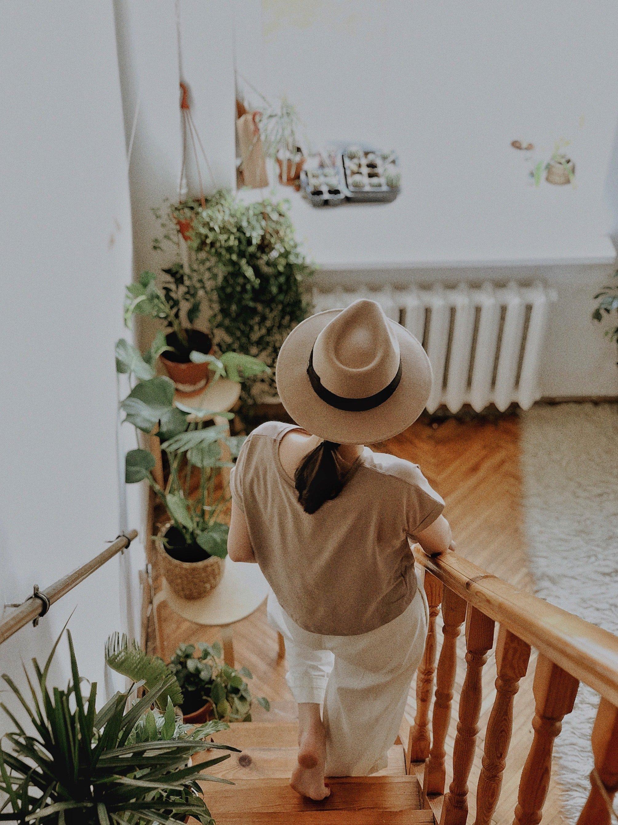 nog meer planten verwerken in de trap